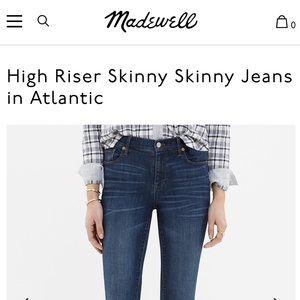 High Riser Skinny Skinny Jeans
